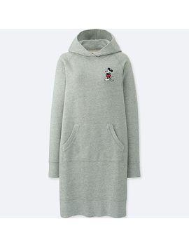 women-mickey-stands-long-sleeve-sweatshirt-dress by uniqlo