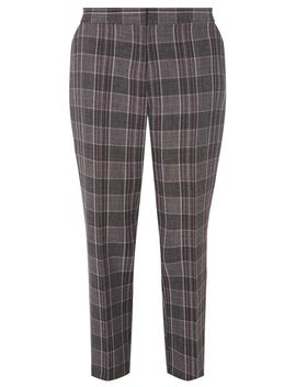 grey-and-pink-checked-print-ankle-grazer-trousers by dorothy-perkins