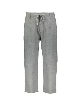 grey-neoprene-jogging-bottoms by aeca-white