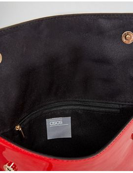 asos-patent-covered-stud-cross-body-bag-with-detachable-strap by asos-collection