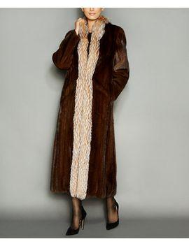 fox-fur-trim-mink-fur-maxi-coat by the-fur-vault