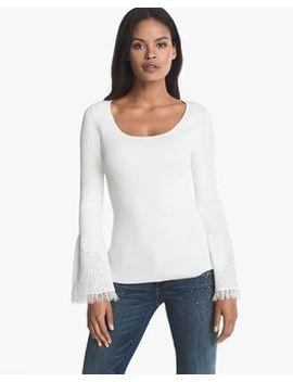 drama-lace-sleeve-sweater by whbm