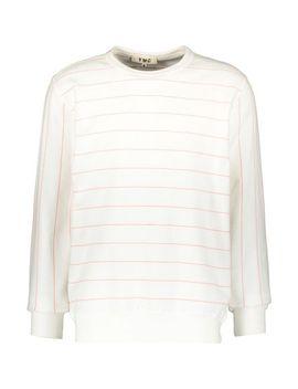 white-&-red-stripe-sweatshirt by ymc