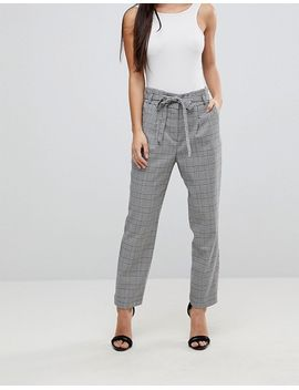 miss-selfridge-petite-checked-tailored-trousers by miss-selfridge