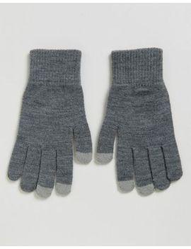asos-touchscreen-gloves-in-grey by asos