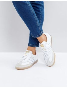 adidas-originals-samba-trainers-in-white-texture by adidas