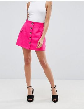 asos-petite-tailored-uber-high-waist-mini-skirt-with-button-through-and-pocket-detail by asos-petite