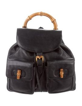 gucci-vintage-bamboo-backpack by gucci