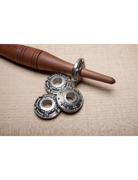 medieval-style-pewter-spindle-whorl-|-hand-cast-|-pewter by etsy
