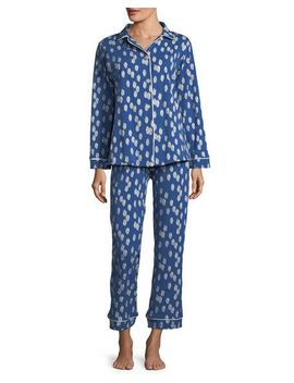 ikat-dot-long-sleeve-classic-pajama-set by bedhead