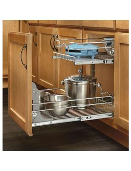 19-in-h-x-1475-in-w-x-22-in-d-base-cabinet-pull-out-chrome-2-tier-wire-basket by rev-a-shelf