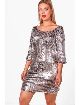 plus-shauna-sequin-shift-dress by boohoo