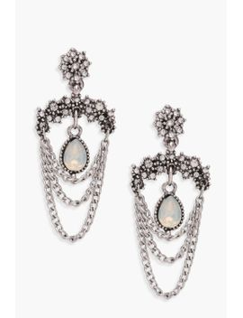 maisie-chain-and-gem-statement-earrings by boohoo