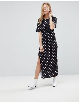 asos-ultimate-t-shirt-maxi-dress-in-polka-dot by asos-collection