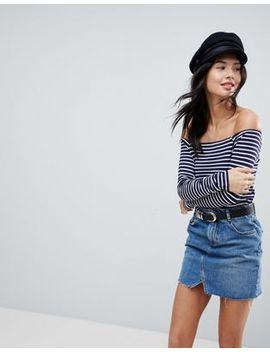 asos-off-shoulder-stripe-top by asos-collection