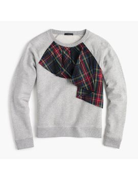 tartan-ruffle-sweatshirt by jcrew