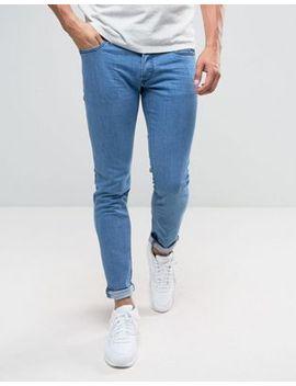 diesel-sleenker-skinny-jeans-0684b-mid-wash by diesel