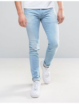 diesel-sleenker-skinny-jeans-084eb-light-wash by diesel