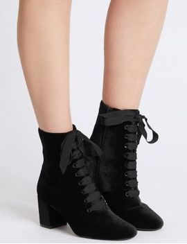 block-heel-side-zip-lace-up-ankle-boots by marks-&-spencer