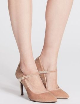 stiletto-fine-strap-court-shoes by marks-&-spencer