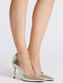 stiletto-heel-court-shoes by marks-&-spencer