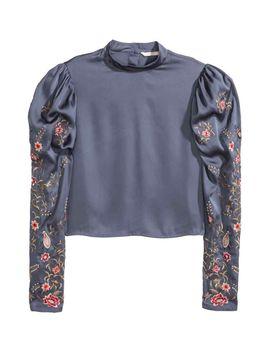 blusa-em-cetim-com-bordado by h&m