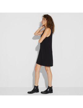 sullivan-crepe-double-v--dress by theory