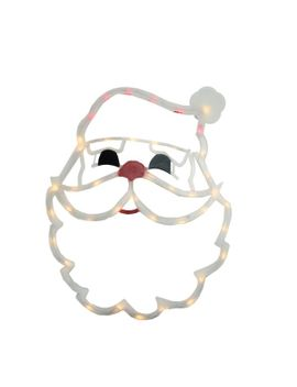 the-holiday-aisle-lighted-santa-claus-face-christmas-window-silhouette-decoration-&-reviews by the-holiday-aisle