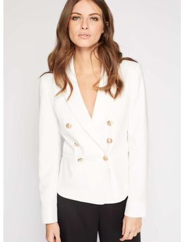 white-military-blazer by miss-selfridge