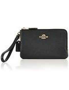 double-corner-zip-purse---black by coach