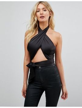 asos-design-fuller-bust-sexy-wrap-halter-with-tie-detail by asos-collection