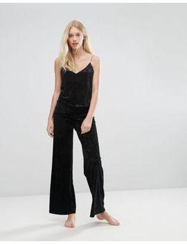 boux-avenue-black-vevlet-palazzo-pajama-pant by boux-avenue