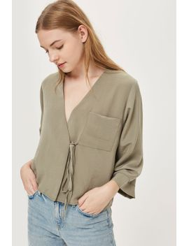 tie-wrap-blouse by topshop