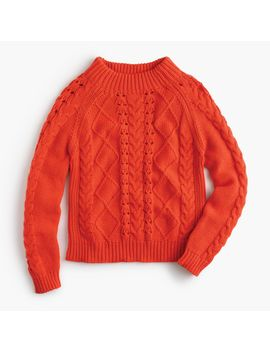 mockneck-cable-knit-sweater by jcrew