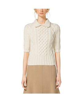 merino-wool-aran-sweater by michael-kors-collection