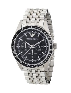 black-&-silver-tone-steel-watch by emporio-armani