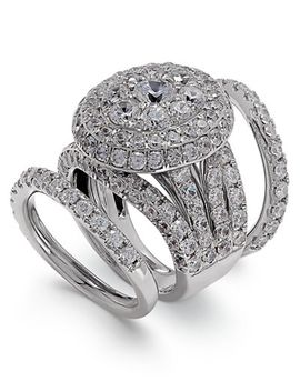 diamond-round-cluster-bridal-set-(7-ct-tw)-in-14k-white-gold by macys