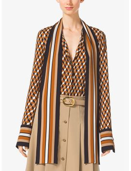 hexagon-silk-georgette-scarf-blouse by michael-kors-collection