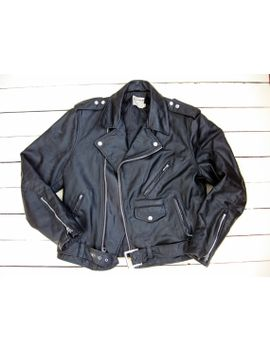 mens-authentic-70s-vintage-biker-jacket-medium(40) by etsy