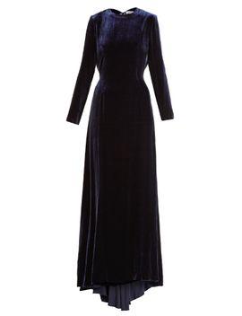 somerset-low-back-velvet-maxi-dress by racil
