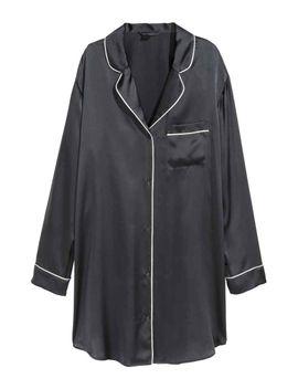 camisa-de-noite-em-seda by h&m