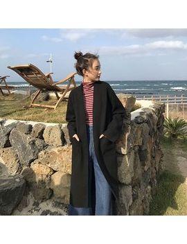 plain-long-coat by yesstyle