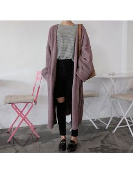 eropia---open-front-long-cardigan by yesstyle