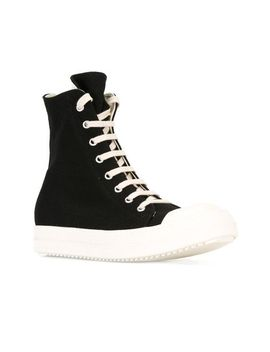 leather-sneakers---black by rick-owens