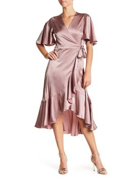 ruffle-midi-tie-dress by soprano