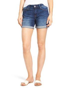 marla-roll-cuff-denim-shorts by mavi-jeans