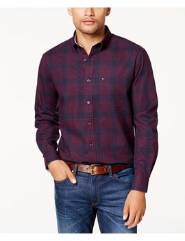 mens-classic-fit-goldberg-houndstooth-shirt,-created-for-macys by tommy-hilfiger