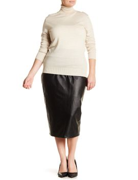 faux-leather-pencil-skirt-(plus-size) by 14th-&-union