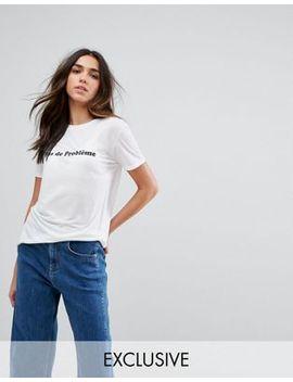 whistles-exclusive-pas-de-probleme-t-shirt by whistles