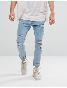 bershka-skinny-jeans-with-extreme-rips-in-light-wash by bershka